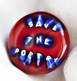 "Anello ""Save the poetry"" di Marco Nereo Rotelli"