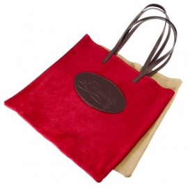 Shopping bag Florian in camoscio