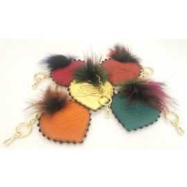 Florian heart keyring with fur