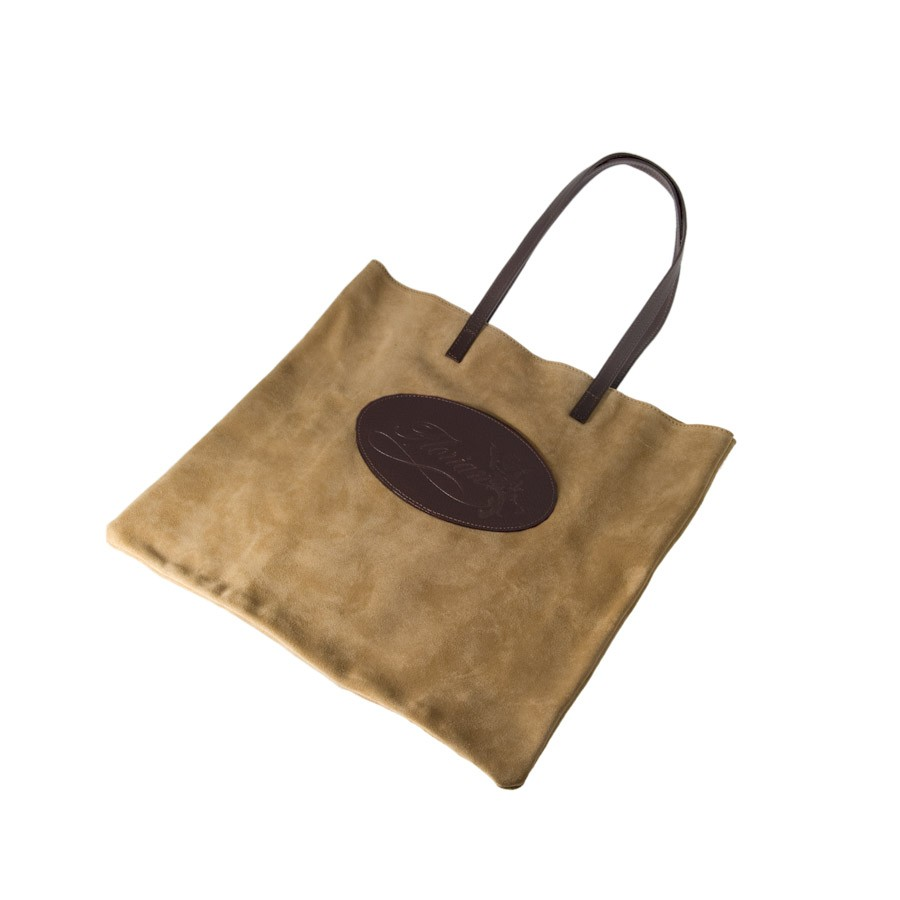 Shopping bag Florian in camoscio beige