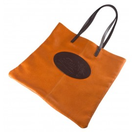 Shopping bag Florian in pelle arancione