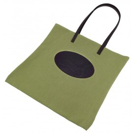 Shopping bag Florian in canvas verde mela