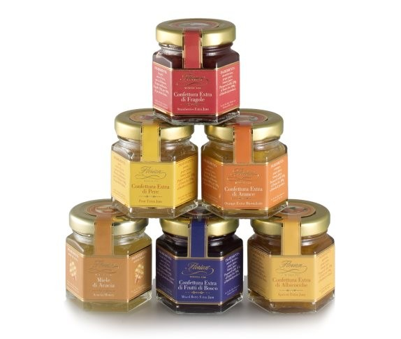 set of six small preserves