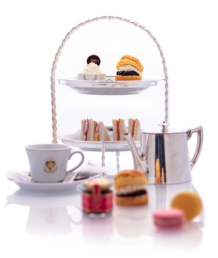 Stand with afternoon tea