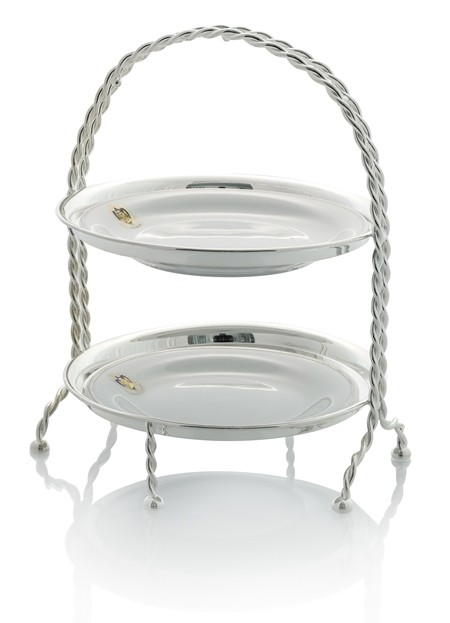 Silver stand with Florian plates