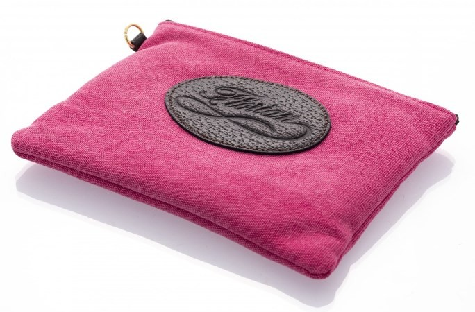 canvas pouch pink