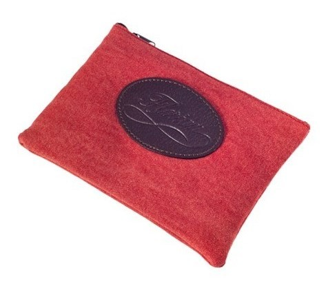 canvas pouch red