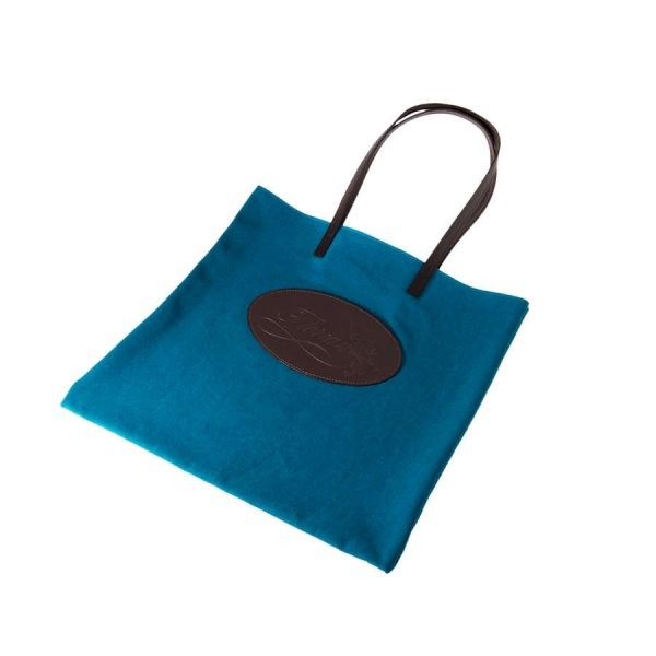 turquoise canvas shopping bag
