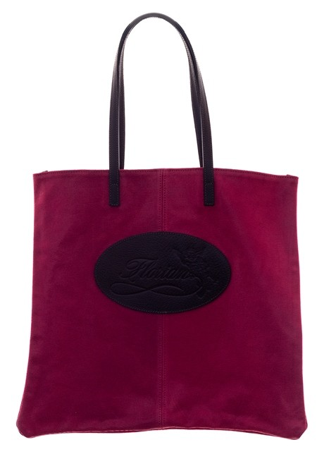 glitter suede shopping bag pink