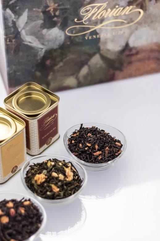 set of three florian selected teas in small tins 120 gr