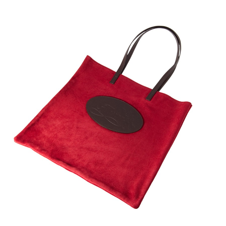Florian suede shopping bag red