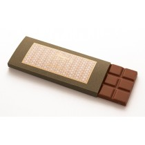 Milk chocolate with cocoa beans bar