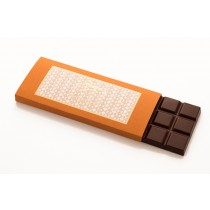 Dark chocolate with orange bar