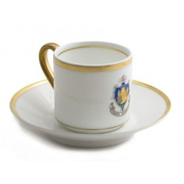 """Impero"" coffee cup and saucer"