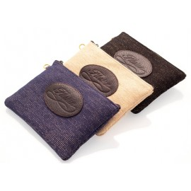 Linen and cotton pouch