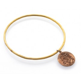 Florian rigid bracelet in brass