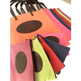 Nuovo set shopping bag e astuccio in canvas