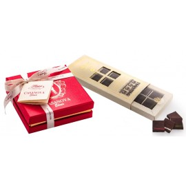 Selection of extra fine dark chocolate and Florian and Casanova Elixir