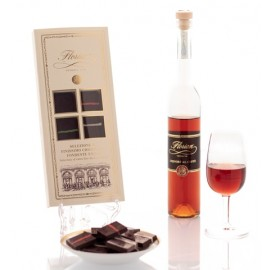 Selection of extra fine dark chocolate and Florian coffee liqueur