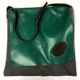 Florian unisex dark green and grey shoulder bag