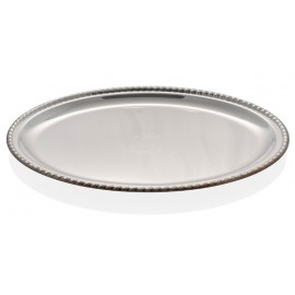 Florian silver plated tray - small