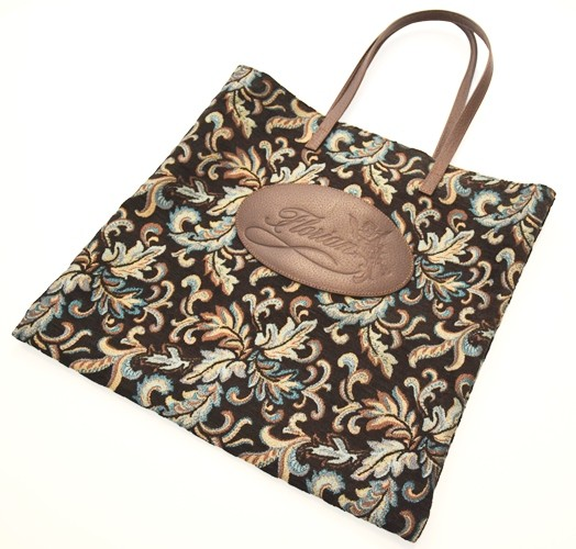 shopping bag damascata nero