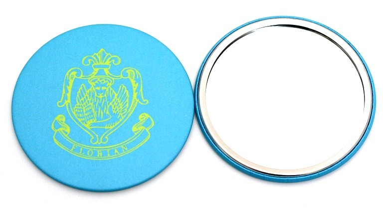Miroir compact turquoise
